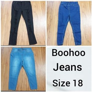 Boohoo Jeans Bundle of 3 Womens Size 18 Distressed